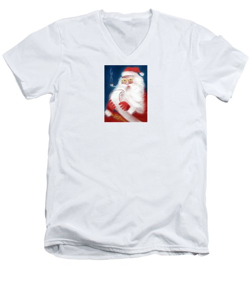 Santa's List Men's V-Neck T-Shirt