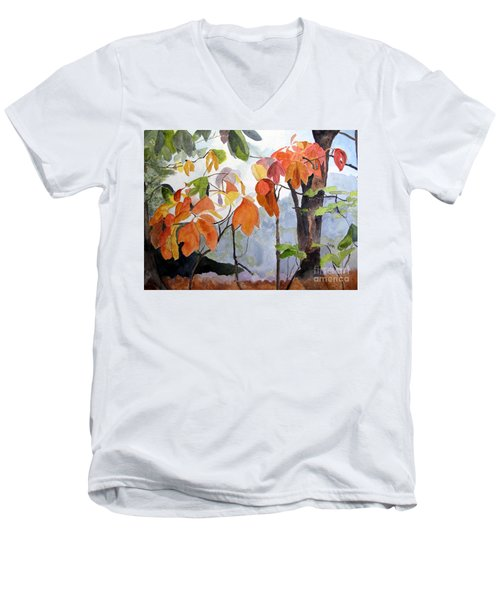 Sassafras Trees On The Ridge Men's V-Neck T-Shirt