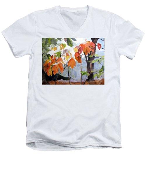 Sassafras Trees On The Ridge Men's V-Neck T-Shirt