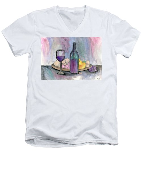 Scene From An Italian Restaurant Men's V-Neck T-Shirt