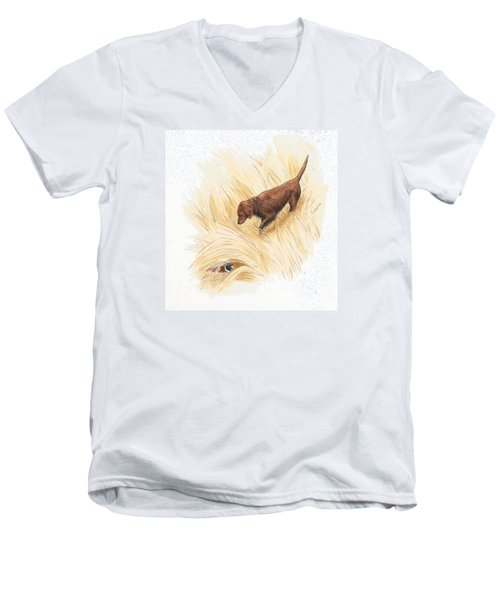 Scenting Pheasant Men's V-Neck T-Shirt