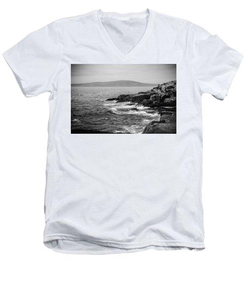 Men's V-Neck T-Shirt featuring the photograph Schoodic by Kristopher Schoenleber