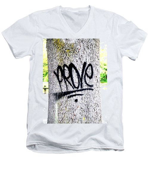 Scientific Graffiti  Men's V-Neck T-Shirt