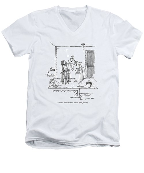 Scientists Have Extended The Life Of The Fruit Men's V-Neck T-Shirt