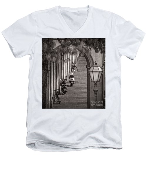 Scooters And Bikes Men's V-Neck T-Shirt