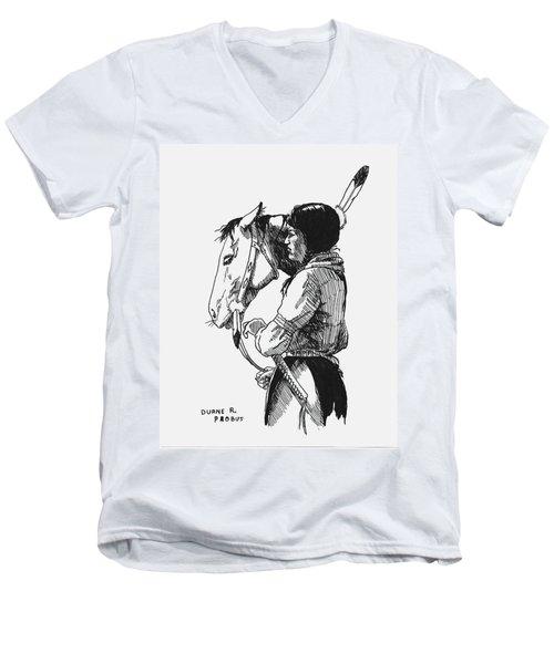 Scout Men's V-Neck T-Shirt by Duane R Probus