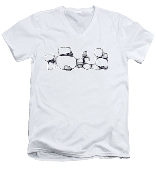 Scribrocks Men's V-Neck T-Shirt by Mark Blauhoefer