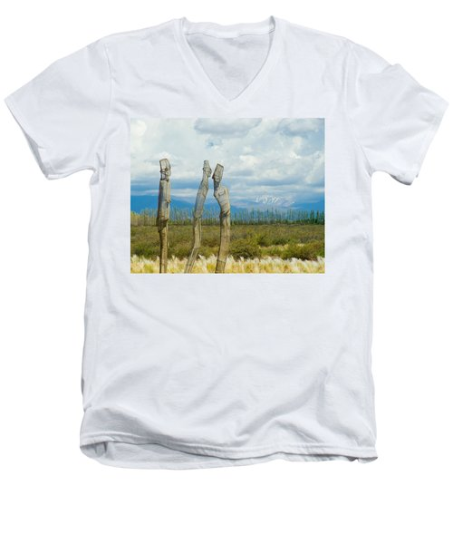 Sculpture In The Andes Men's V-Neck T-Shirt