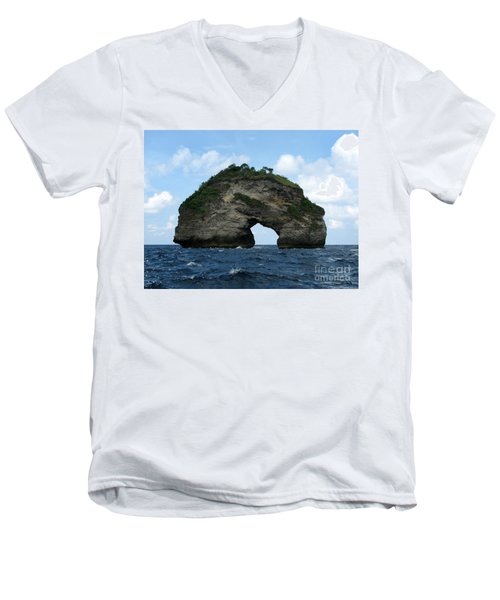 Men's V-Neck T-Shirt featuring the photograph Sea Gate by Sergey Lukashin