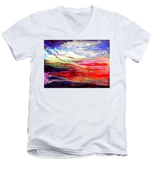 Sea Sky I Men's V-Neck T-Shirt by Karen  Ferrand Carroll