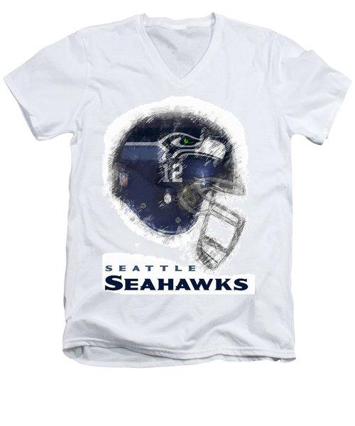 Seahawks 12 Men's V-Neck T-Shirt