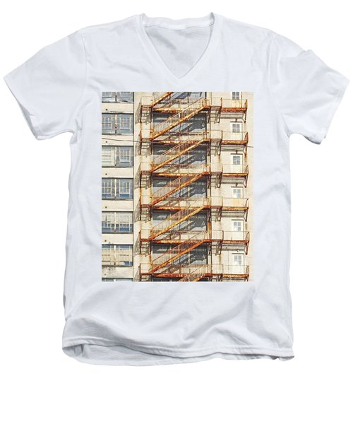 Sears Crosstown Fire Escape Memphis Tn Men's V-Neck T-Shirt