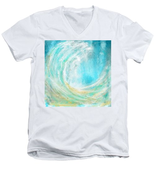 Seascapes Abstract Art - Mesmerized Men's V-Neck T-Shirt