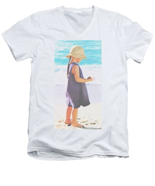 Seaside Treasures Men's V-Neck T-Shirt by Sophia Schmierer