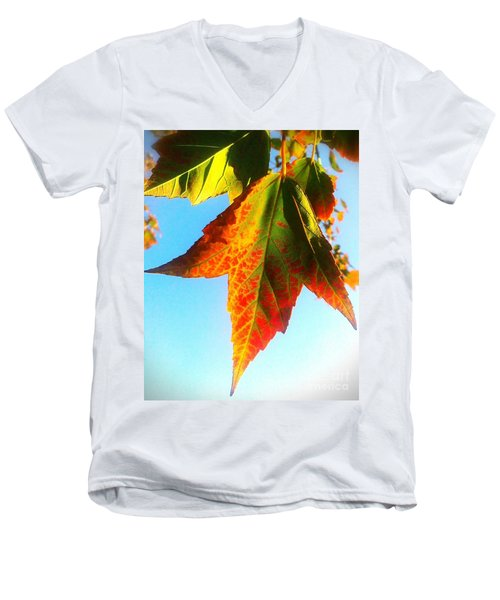 Men's V-Neck T-Shirt featuring the photograph Season's Change by James Aiken