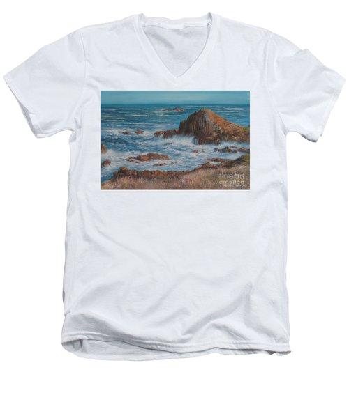 Seaspray Men's V-Neck T-Shirt by Valerie Travers