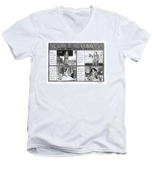 Secret Alliances Of The New World Order Men's V-Neck T-Shirt