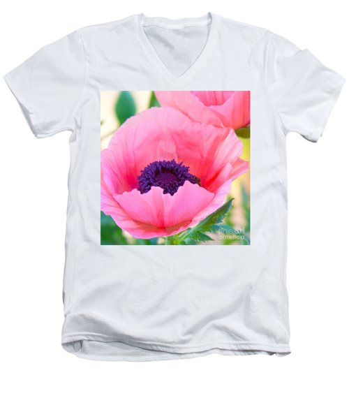 Seductive Poppy Men's V-Neck T-Shirt