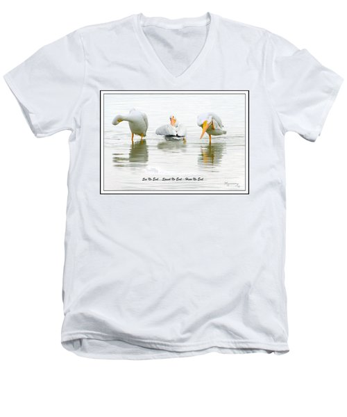 See No Evil...speak No Evil... Hear No Evil Men's V-Neck T-Shirt by Mariarosa Rockefeller