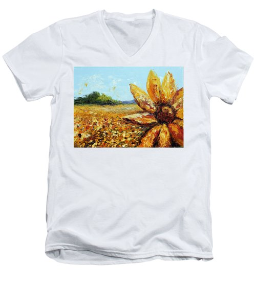 Seeing The Sun Men's V-Neck T-Shirt