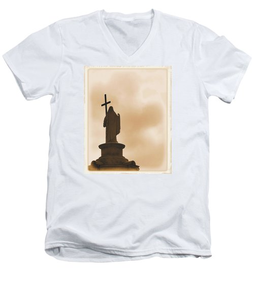 Men's V-Neck T-Shirt featuring the photograph Seeking The Divine by Nadalyn Larsen