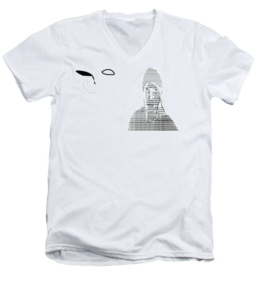 Self Portrait In Text Men's V-Neck T-Shirt