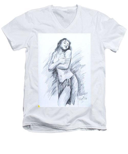 Semi Nude Men's V-Neck T-Shirt