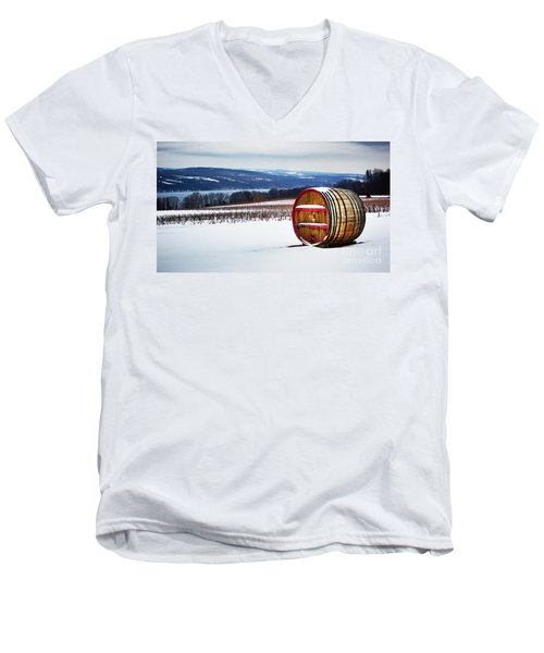 Seneca Lake Winery In Winter Men's V-Neck T-Shirt
