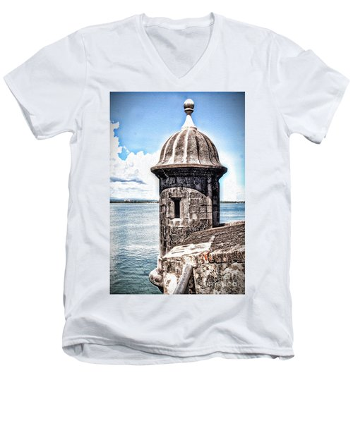 Sentry Box In El Morro Hdr Men's V-Neck T-Shirt