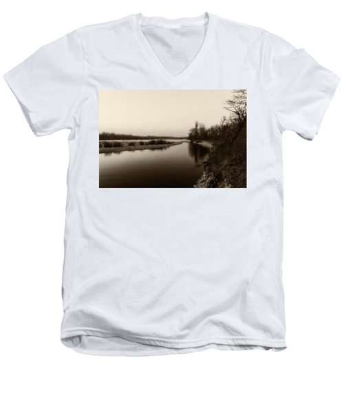 Sepia River Men's V-Neck T-Shirt