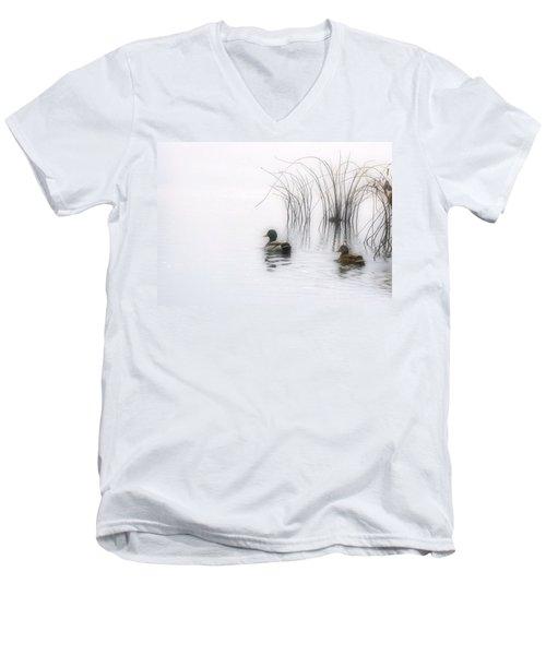 Serene Moments Men's V-Neck T-Shirt by Karol Livote