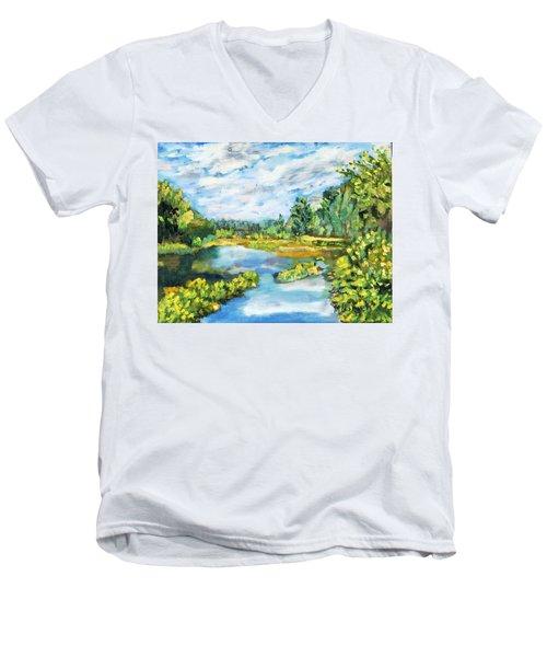 Serene Pond Men's V-Neck T-Shirt