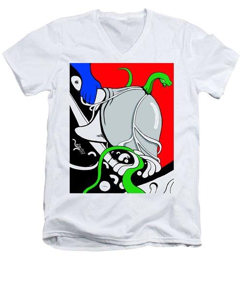 Serpent Of Time Men's V-Neck T-Shirt