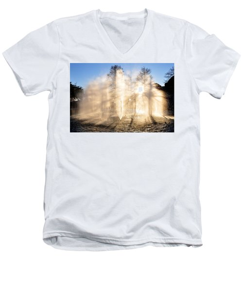 Men's V-Neck T-Shirt featuring the photograph Shadow Play by Charlotte Schafer