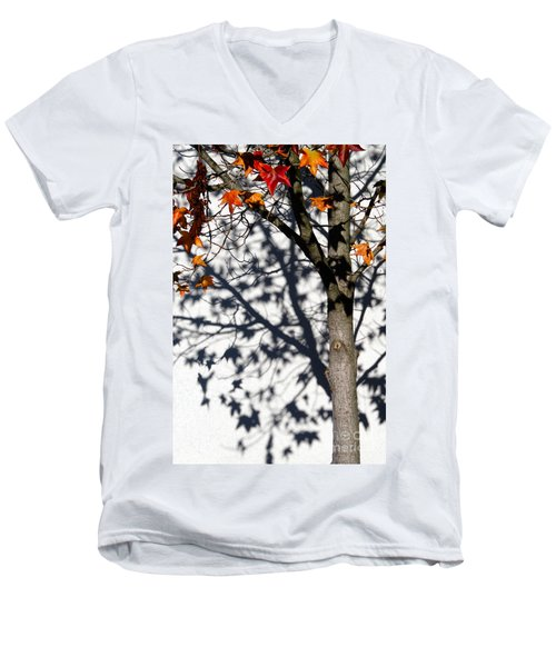 Shadows Of Fall Men's V-Neck T-Shirt by CML Brown
