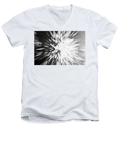 Men's V-Neck T-Shirt featuring the photograph Shattered by Dazzle Zazz