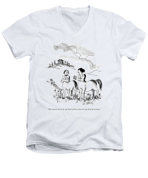 She Turned Out To Be My Kind Of Horse But Men's V-Neck T-Shirt