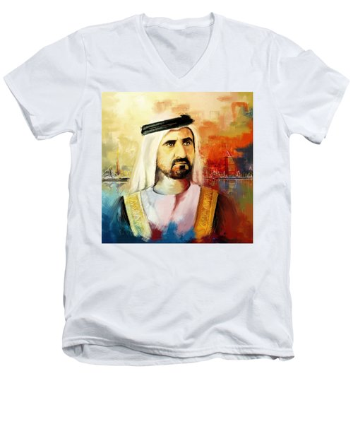 Sheikh Mohammed Bin Rashid Al Maktoum Men's V-Neck T-Shirt
