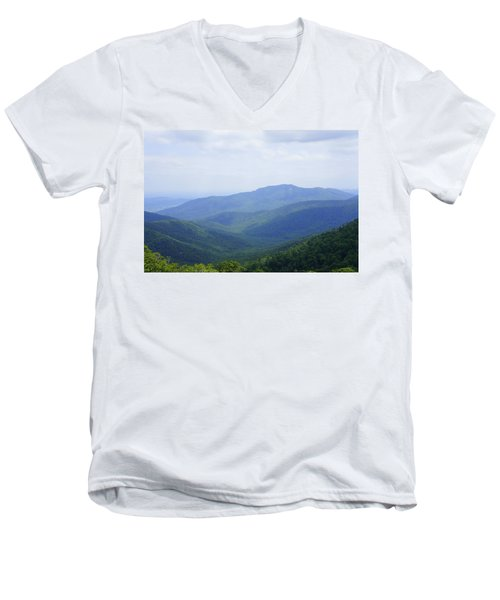 Shenandoah View Men's V-Neck T-Shirt by Laurie Perry