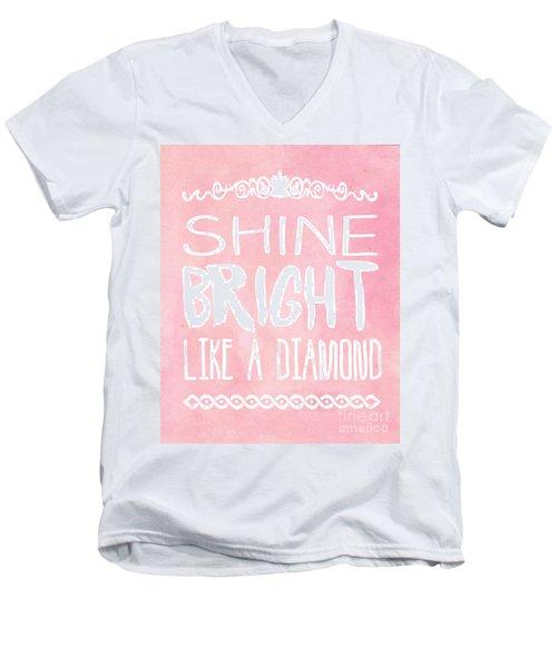 Shine Bright Men's V-Neck T-Shirt by Pati Photography