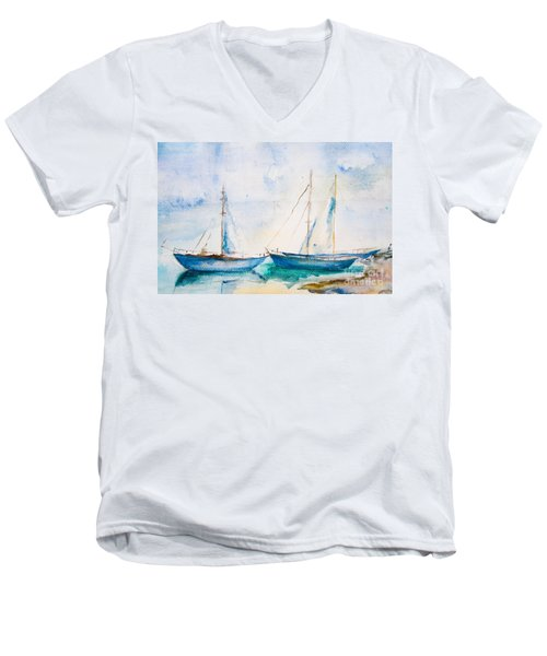 Ships In The Sea Men's V-Neck T-Shirt