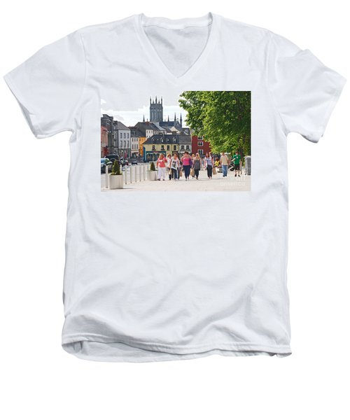 Men's V-Neck T-Shirt featuring the photograph Shopping Trip by Mary Carol Story