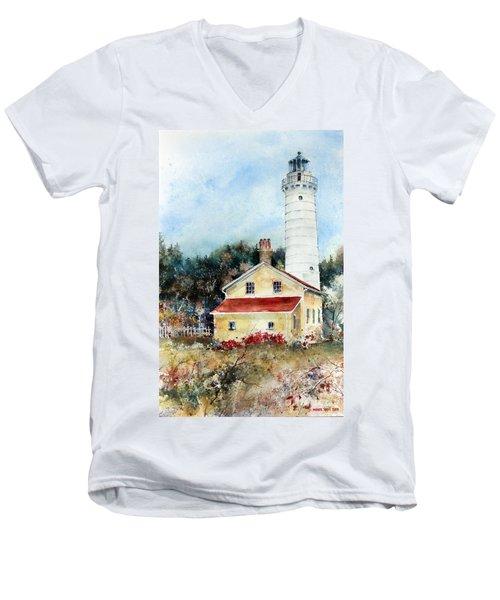 Shore Beacon Men's V-Neck T-Shirt