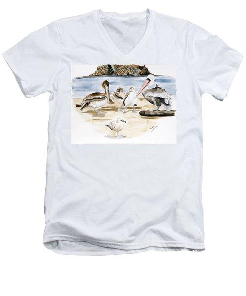 Shore Birds Men's V-Neck T-Shirt