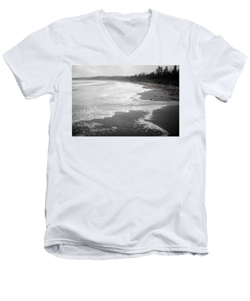 Winter At Wickaninnish Beach Men's V-Neck T-Shirt