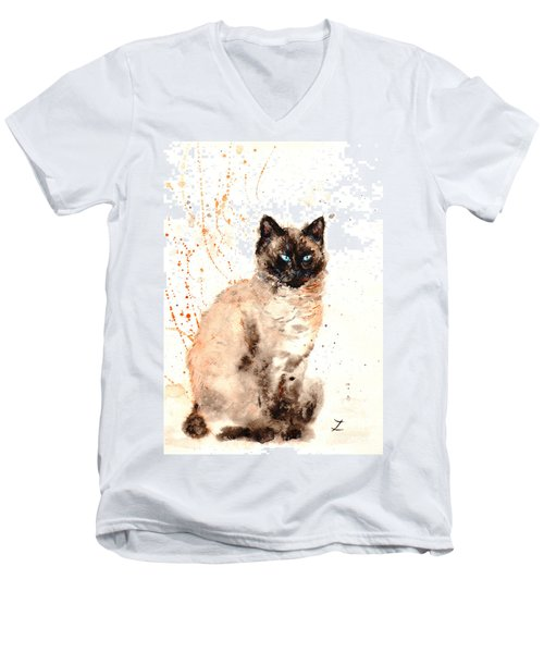 Siamese Beauty Men's V-Neck T-Shirt