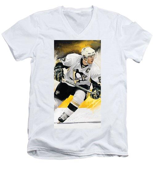Sidney Crosby Artwork Men's V-Neck T-Shirt