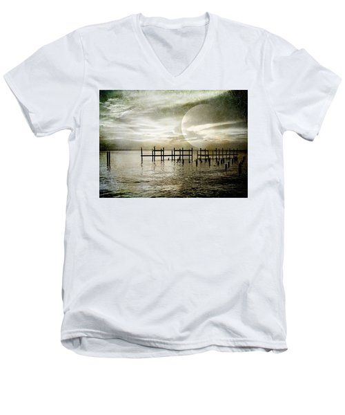 Men's V-Neck T-Shirt featuring the photograph Silhouettes  by Kathy Bassett