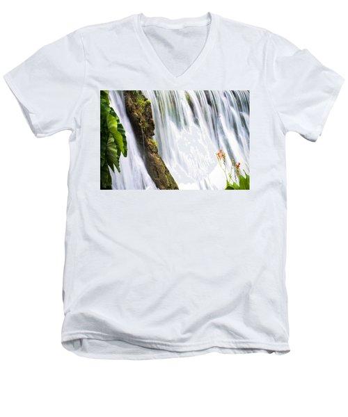 Silk Ribbons Men's V-Neck T-Shirt