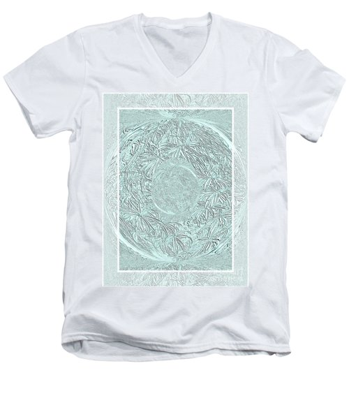Men's V-Neck T-Shirt featuring the photograph Silver Ring by Oksana Semenchenko